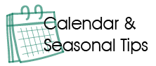 Calendar of seasonal tips
