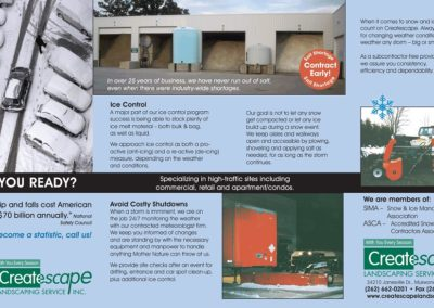 Createscape Snow Brochure Front
