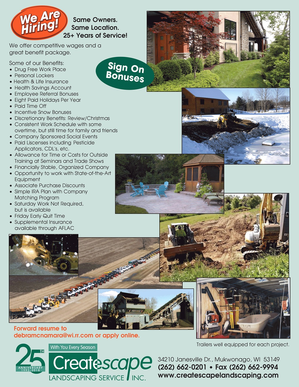 landscape jobs brochure
